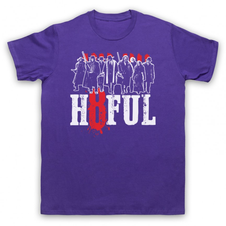 Hateful Eight H8ful Characters Mens Purple T-Shirt