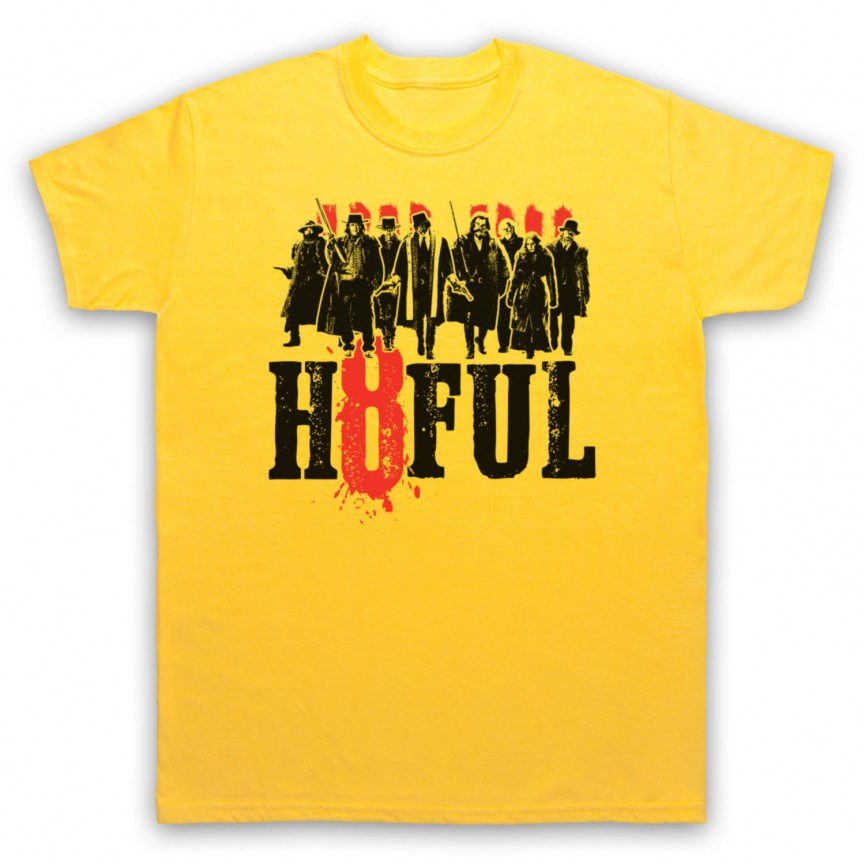 Hateful Eight H8ful Characters Mens Yellow T-Shirt