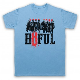 Hateful Eight H8ful Characters Mens Sky Blue T-Shirt
