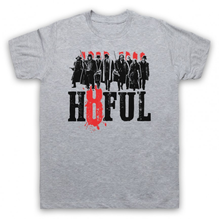 Hateful Eight H8ful Characters Mens Heather Grey T-Shirt