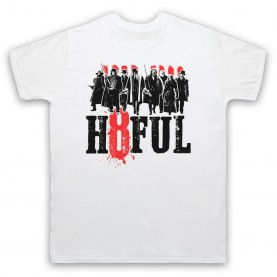 Hateful Eight H8ful Characters Mens White T-Shirt