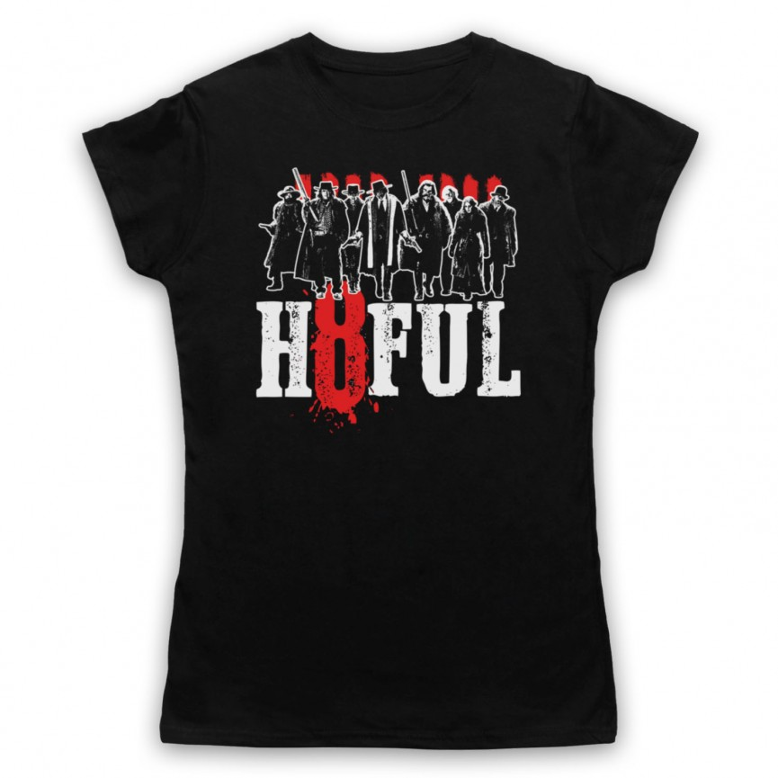 Hateful Eight H8ful Characters Womens Black T-Shirt