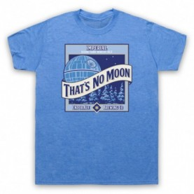 Star Wars That's No Moon Imperial Dark Side Wheat Ale Mens Heather Blue T-Shirt