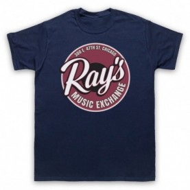Blues Brothers Ray's Music Exchange Mens Navy Blue T-Shirt