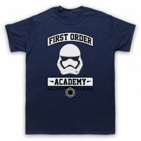 Star Wars First Order Academy Mens Navy Blue T-Shirt