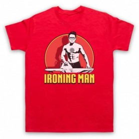 Iron Man Ironing Man Parody Mens Red T-Shirt