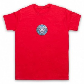 Iron Man Chest Arc Reactor Mens Red T-Shirt