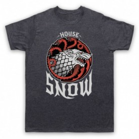 Game Of Thrones House Snow Mens Heather Slate T-Shirt