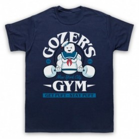 Ghostbusters Gozer's Gym Get Puft Stay Puft Mens Navy Blue T-Shirt