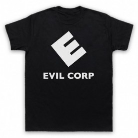 Mr Robot Evil Corp Logo Mens Black T-Shirt