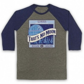 Star Wars That's No Moon Imperial Dark Side Wheat Ale Adults Grey & Navy Blue Baseball Tee