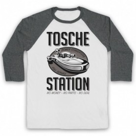 Star Wars Tosche Station Adults White & Grey Baseball Tee