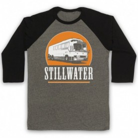 Almost Famous Stillwater Adults Grey & Black Baseball Tee