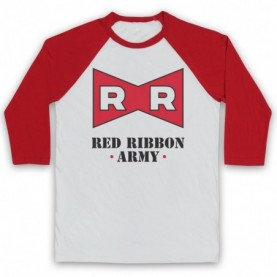 Dragon Ball Z Red Ribbon Army Adults White & Red Baseball Tee