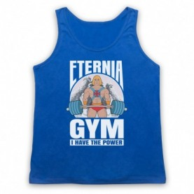 He-Man Eternia Gym I Have The Power Adults Royal Blue Tank Top
