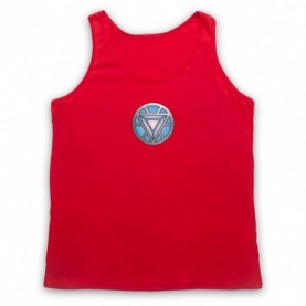 Iron Man Chest Arc Reactor Adults Red Tank Top