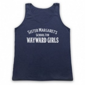 Deadpool Sister Margaret's School For Wayward Girls Adults Navy Blue Tank Top
