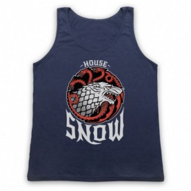 Game Of Thrones House Snow Adults Navy Blue Tank Top