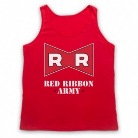 Dragon Ball Z Red Ribbon Army Adults Red Tank Top