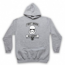 Star Wars First Order Academy Adults Heather Grey Pullover Hoodie