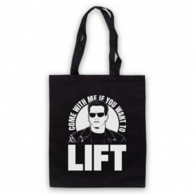 Arnold Schwarzenegger Come With Me If You Want To Lift Black Tote Bag