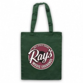 Blues Brothers Ray's Music Exchange Dark Green Tote Bag