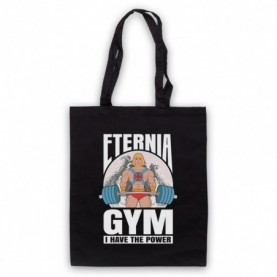 He-Man Eternia Gym I Have The Power Black Tote Bag