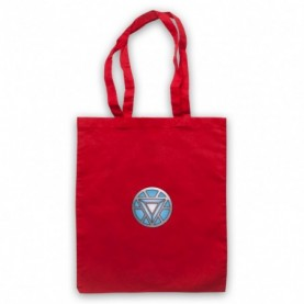 Iron Man Chest Arc Reactor Red Tote Bag