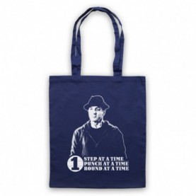 Creed Rocky One Step At A Time One Round One Punch Navy Blue Tote Bag