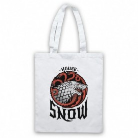 Game Of Thrones House Snow White Tote Bag