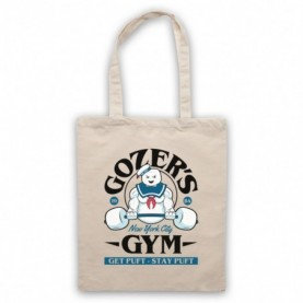 Ghostbusters Gozer's Gym Get Puft Stay Puft Natural Tote Bag
