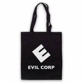 Mr Robot Evil Corp Logo Black Tote Bag