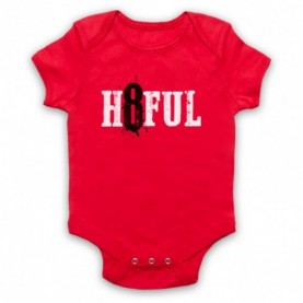 Hateful Eight H8ful Logo Red Baby Grow