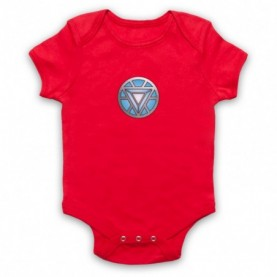 Iron Man Chest Arc Reactor Red Baby Grow
