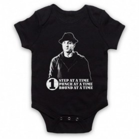 Creed Rocky One Step At A Time One Round One Punch Black Baby Grow