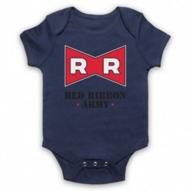 Dragon Ball Z Red Ribbon Army Navy Blue Baby Grow