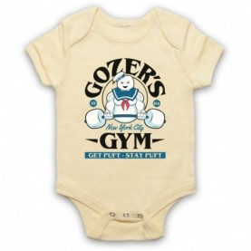 Ghostbusters Gozer's Gym Get Puft Stay Puft Light Yellow Baby Grow