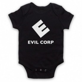 Mr Robot Evil Corp Logo Black Baby Grow