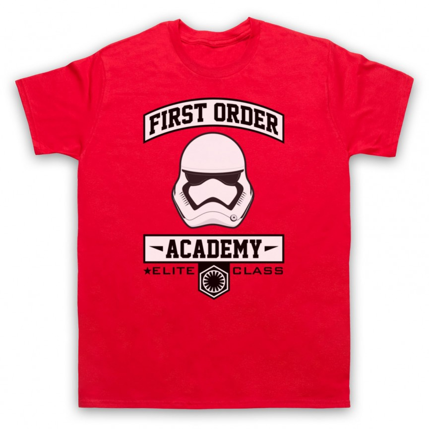 Star Wars First Order Academy Mens Red T-Shirt