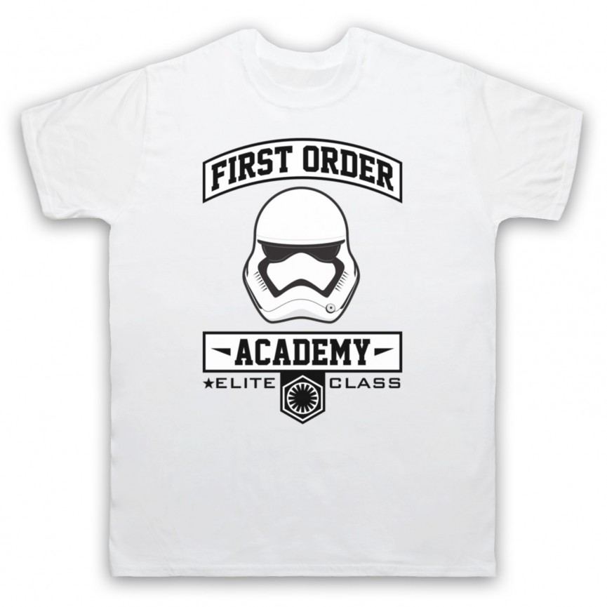 Star Wars First Order Academy Mens White T-Shirt