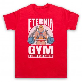 He-Man Eternia Gym I Have The Power Mens Red T-Shirt
