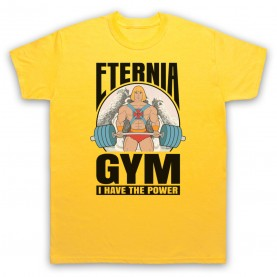 He-Man Eternia Gym I Have The Power Mens Yellow T-Shirt