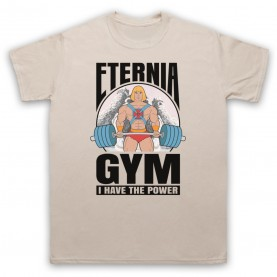 He-Man Eternia Gym I Have The Power Mens Sand T-Shirt