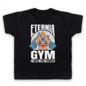 He-Man Eternia Gym I Have The Power Kids Black T-Shirt