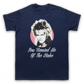 Labyrinth Goblin King You Remind Me Of The Babe Mens Navy Blue T-Shirt