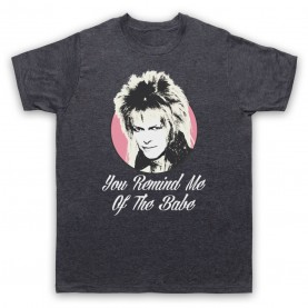 Labyrinth Goblin King You Remind Me Of The Babe Mens Heather Slate T-Shirt