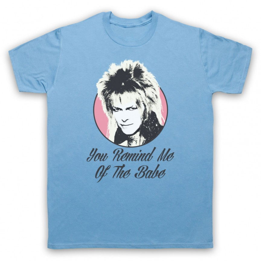 Labyrinth Goblin King You Remind Me Of The Babe Mens Sky Blue T-Shirt