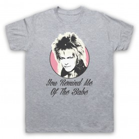 Labyrinth Goblin King You Remind Me Of The Babe Mens Heather Grey T-Shirt