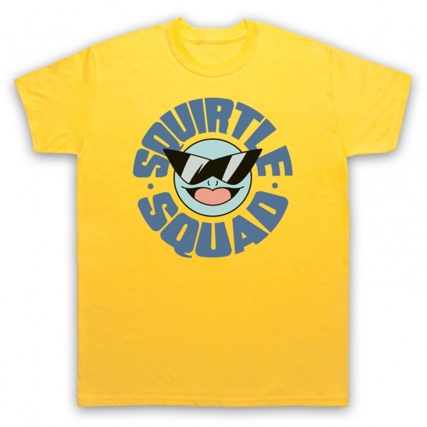 Pokemon Squirtle Squad Mens Yellow T-Shirt