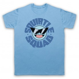Pokemon Squirtle Squad Mens Sky Blue T-Shirt